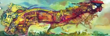 Persian Bird  / Original Oil on Stretched Canvas by Sergej Hahonin / 20 x 60 cm