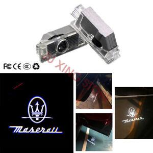 For MASERATI Quattroporte Ghibli 2Pcs Car Projector Classic Logo Door Lights