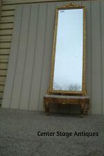 58961 Gold Pier Mirror + Marble Top Stand Table Dresing Vanity Mirror