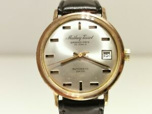 "VINTAGE RARE GOLD PLATED SWISS MEN'S AUTOMATIC WATCH ""MATHEY-TISSOT"" GRAND PRIX"