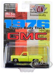 1976 GMC SIERRA GRANDE 15 SQUARE BODY PICKUP TRUCK YELLOW 1/64 BY M2 31500-MJS14
