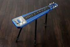 Sparkle Blu Nashville QUINCY 6 String Lap Steel Slide Guitar gambe tono BAR