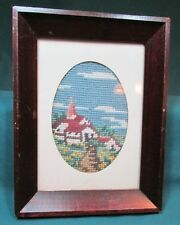 Needlepoint Alpine Framed Picture 8X6 – Very Good Condition