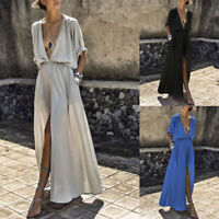 Women Boho Long Maxi Dress Evening Summer Cocktail Party Beach Dresses Sundress