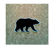 Black Bear - Wild Animal - Team Logo - Grizzly  - Embroidered Iron On Patch