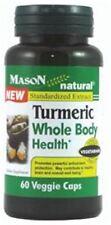Mason Natural Turmeric Whole Body Health Veggie Caps 60 ea (Pack of 2)