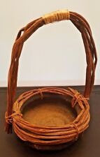 PRIMITIVE ANTIQUE BRONZE BIRDS NEST BOWL BASKET