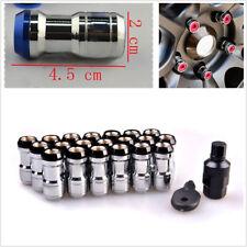 20X Black Alloy Steel M12X1.5 Racing Plum Car SUV Auto Hub Anti-theft Nuts Screw