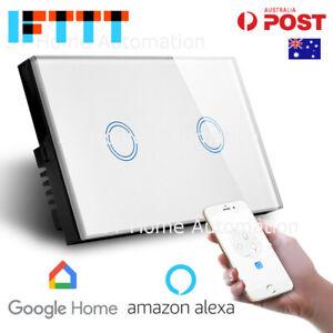 Australian Certified SMART HOME Alexa & Google Home Touch Wall Switch 2 gang SAA