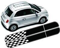 Fiat 500 595 Abarth Ott Kariert Streifen Grafik Aufkleber