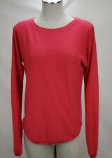 Womens 100% Cashmere Sweater Size Large Salmon Pink Crew Pullover Garnet Hill