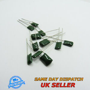 100V 2A Polyester Film Capacitors Green Radial Leads Non-Polarized
