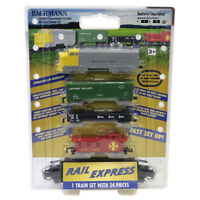 Bachmann 00958 Battery Operated Rail Express Train Set w/ 24 Pieces HO Scale