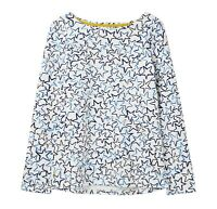 Joules Festive Harbour Print Jersey Top (Cream Star)