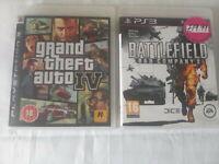 PS3 Playstation 3 GTA IV 4 + Battlefield Bad Company 2 bundle.
