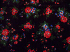 """Cath Kidston Discontinued Rosy Brown w/ Roses Corduroy Fabric Piece, 19 1/4""""x20"""""""