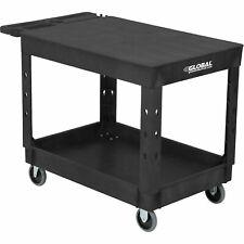 Industrial Service Amp Utility Cart Plastic 2 Flat Black Shelf 44 X 25 12 5