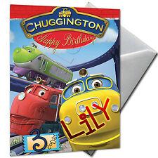 CHUGGINGTON - PERSONALISED  Birthday Card Large A5 + Envelope
