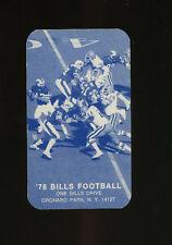 1978 Buffalo Bills NFL Football Schedule