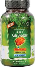 Irwin Naturals, 3-In-1 Carb Blocker, White Bean Extract, Maximum Strength, 75 Li