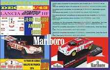 ANEXO DECAL 1/43 LANCIA STRATOS J-C. ANDRUET TOUR DE CORSE 1974 MARLBORO (02)