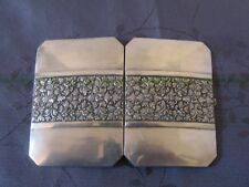 CHINESE EXPORT SILVER CARD CASE ETUI A CARTES DE VISITE ARGENT MASSIF CHINE ASIE