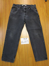 Levi 550 relaxed fit black jean tag 38x32 Meas 36x31 zip11283