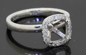 Heavy Platinum .40CTW VS diamond wedding/engagement ring semi-mounting size 6.25