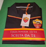 MAGLIA ROMA TOTTI issued worn TIM CUP JERSEY SHIRT 2013 2014 ROMA CARES unbrand