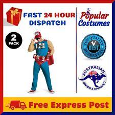2 Pack The Simpsons Duffman Duff Man Beer Muscle Mens Adult Costume Oktoberfest