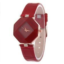 Fashion Women 's Leather Band Analog Quartz Diamond Wrist Watch Watches Hot