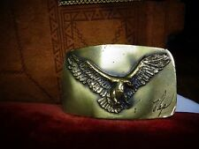 "Vintage Eagle Buckle signed ""Nap"" Great American Buckle Company Chicago 1978"