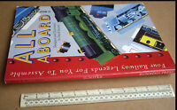 "1992 Press-Out Model Book ""All Aboard""  Four Railway Legends For You To Assemble"