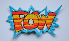 BATMAN CARTOON STYLE POW  2.5' 5cm SEW IRON ON  PATCH BADGE EMBROIDERY APPLIQUE