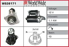 Starter Motor (Surcharge Free) WS38171 WWA Genuine Top Quality Replacement New