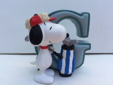 Snoopy Figurine Letter G Collection Brand New in Box 8577 Figure New in Box