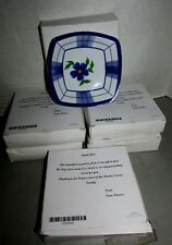 """Melmac Appetizer dishes blue/white floral 5 1/2"""" square tapered 1 1/2""""deep NIB 6"""