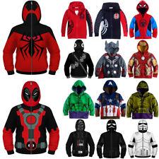 Kid Boy Superhero Spiderman Hoodie Hooded Sweatshirt Coat Jacket Tops Casual