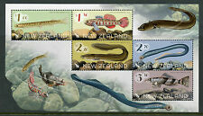 New Zealand NZ 2017 MNH Native Freshwater Fish 5v M/S Eels Lamprey Fishes Stamps