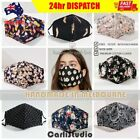 Fabric Cloth Washable Reusable TRIPLE LAYER Adult Kids Face Mask Masks Filter AU <br/> ✔HANDMADE IN MELBOURNE ✔FREE FILTER ✔NOSE WIRE