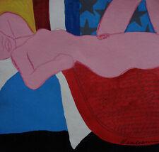 Unique PoP Art original mixed media, painting, signed 2x Tom Wesselmann w COA