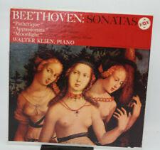 Beethoven Sonatas Pathétique Appassionata Moonlight Walter Klien Piano  vinyl LP