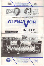1988/89 Glenavon v Linfield - Ulster Cup - 24th Aug - Vol 7 No 1