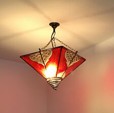 Authentic Handmade Moroccan Henna Lampshade Lantern - Various colours