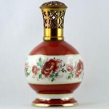 Ancienne LAMPE BERGER PARIS Porcelaine De Couleuvre ALBERT LAURENT gold/limoges
