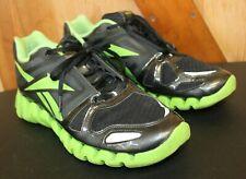 Reebok Zig Tech ~ Running Athletic Fitness Shoes ~ Black Neon Green ~ Sz 11 1/2