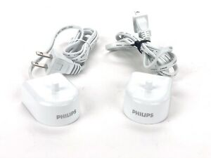 Lot Of 2 Philips HX6100 Toothbrush Sonicare Travel Charger Base AC Power
