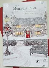 Glittered Christmas Card ~ To A Very Wonderful Son