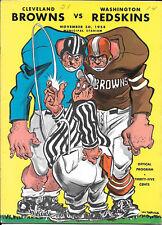 NOV 30, 1958 CLEVELAND BROWNS vs WASHINGTON REDSKINS VINTAGE FOOTBALL PROGRAM