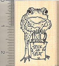Trick r Treat Halloween Frog rubber stamp G9705 WM Toad